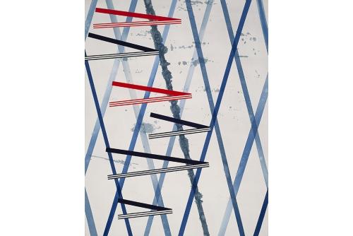 Jean-Benoit Pouliot, Sans titre (série Interférences) (B), 2012 Acrylique sur toile, acrylic on canvas, 67″ x 52″
