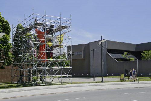 Chloe Lum & Yannick Desranleau (Séripop) Exegi Monumentum Aere Perennius, 2014 Techniques mixtes Mixed media (Installation, Contemporary Art Forum Kitchener + Area)