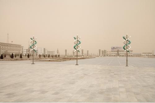 "Benoit Aquin, Storm in Hongsibao, Ningxi (The Chinese Dust Bowl), 2006 Archival pigment print Ed. 5 : 61 x 91 cm (24″ x 36"") Ed. 7 ; 81 x 122 cm (32″ x 48″)"
