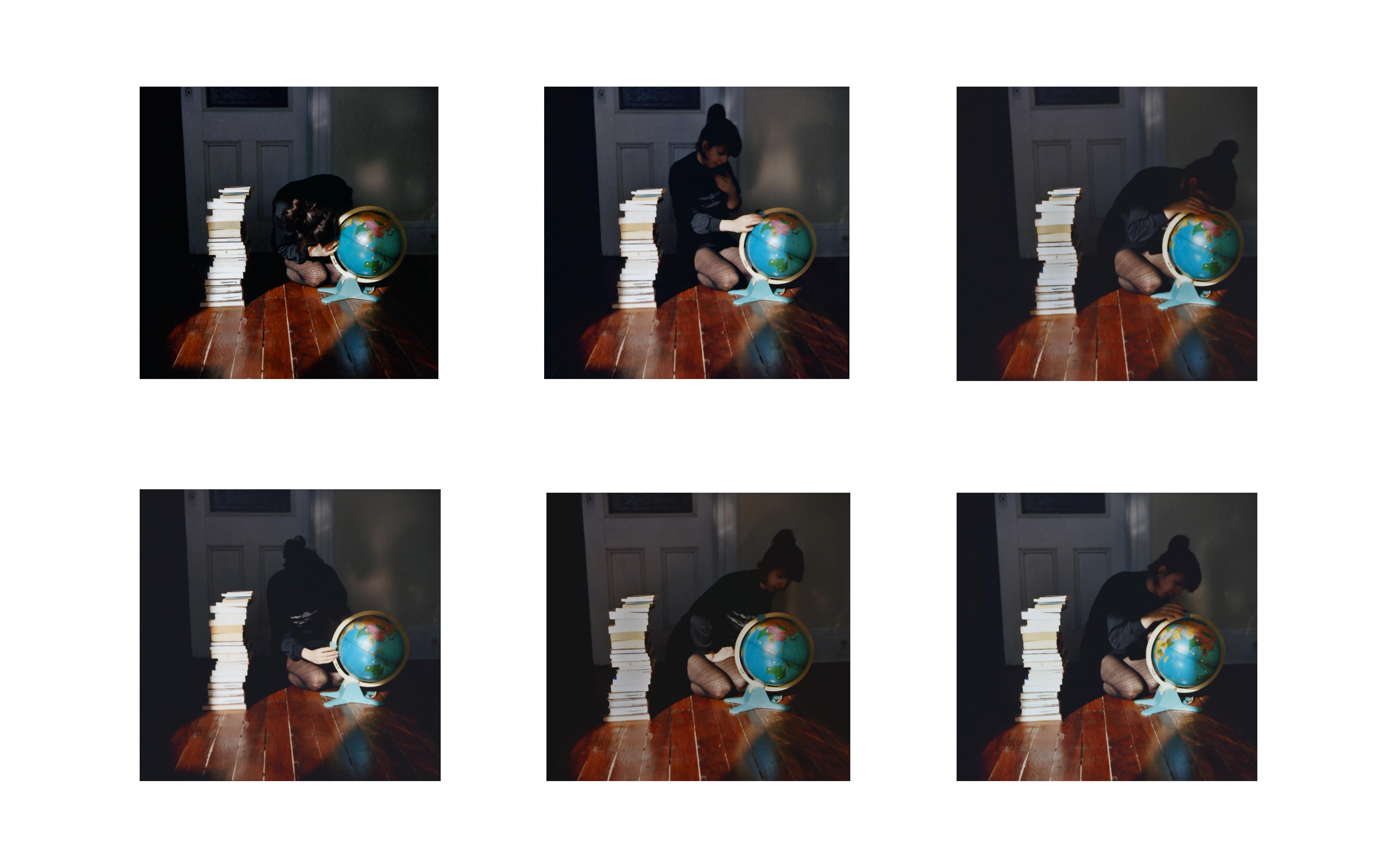 Ève K. Tremblay, Lire un globe (1 à 6), 2011, épreuve chromogène, c-print, éd. 5, 5