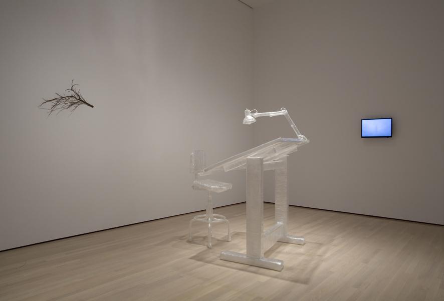 Jonathan Plante, Triennale, Musé d'art contemporain de Montréal, 2008, (Treesome, Instantané, Mobile d'exposition)