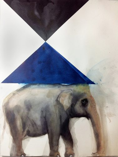 Trevor Gould Pierrot, 2014 Aquarelle Watercolour 61 x 46 cm (24'' x 18'')
