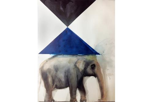 Trevor Gould, Pierrot, 2014 Watercolour 61 x 46 cm (24'' x 18'')
