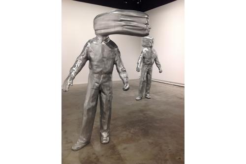 Trevor Gould, Untitled (Cain and Able), 2012, installation, VOX Centre de l'Image contemporaine, Montréal