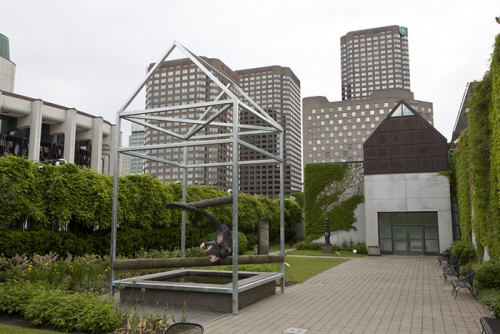 Trevor Gould, God's Window, 2012, permanent installation, Musée d'art contemporain de Montréal