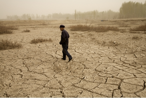 Benoit Aquin, Berger à Wuwei, Chine (série Le Dust Bowl chinois) , 2006 Impression numérique à pigments de qualité archive Ed. 7 : 81 x 122 cm (32″ x 48″) Ed. 5 : 101 x 152 cm (40″ x 60″)