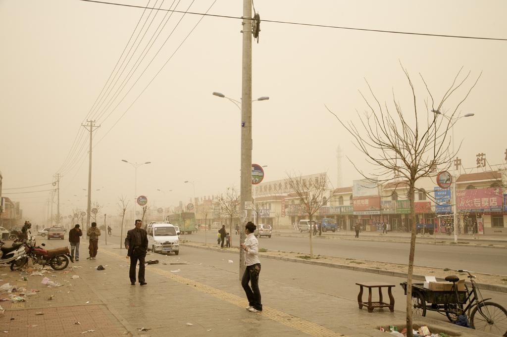 Benoit Aquin, Tempête è Hongsibao, Chine (Le Dust Bowl chinois), 2007, impression digitale, digital print, éd 7, 40