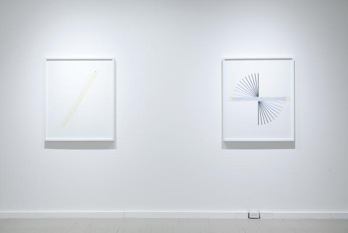 Le temps s'est arrêté - Time Has Stopped, Galerie Hugues Charbonneau, Montréal, 2012, (photo Éliane Excoffier)