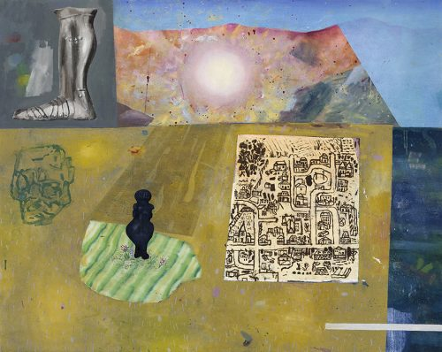 """David Lafrance 20 000 ans 2014 Huile sur toile Oil on canvas 122 x 152 cm (48"""" x 60"""")"""