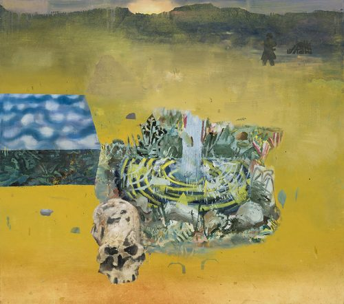 """David Lafrance La vie après 2014 Huile sur toile Oil on canvas 102 x 114 cm (40"""" x 45"""")"""