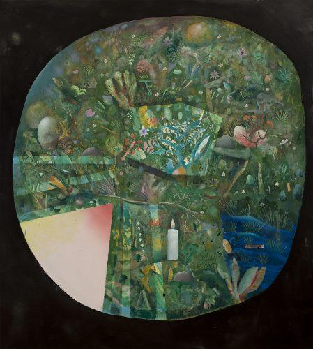 """David Lafrance Faire pousser 2014 Huile sur toile Oil on canvas 203 x 183 cm (80"""" x 72"""")"""