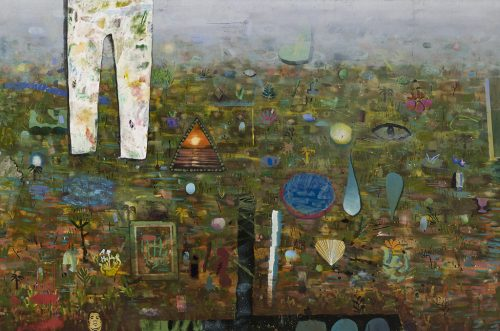 "David Lafrance Un atelier à la campagne 2014 Huile sur toile Oil on canvas 183 x 274 cm (72"" x 108"")"