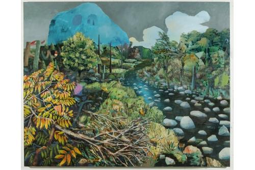 """David Lafrance, La rivière des hurons, 2020 Oil on canvas 183 x 229 cm (72"""" x 90"""") Private collection"""