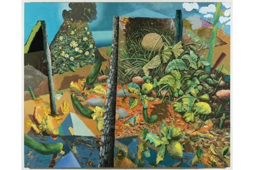 """David Lafrance, Roi melon, 2020 Oil on canvas 183 x 229 cm (72"""" x 90"""") Private collection"""