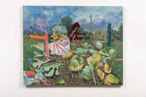 """David Lafrance, Courge dit, 2021 Huile sur toile 81,3 x 101,6 cm (32"""" x 40"""")"""