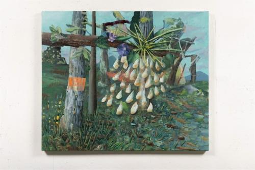 """David Lafrance, Code orange, 2021 Huile sur toile 101,6 x 121,9 cm (40"""" x 48"""")"""
