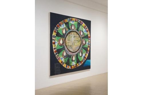 "David Lafrance, Vidéo poker, 2014 Oil on Canvas 203 x 183 cm (80"" x 72"")"