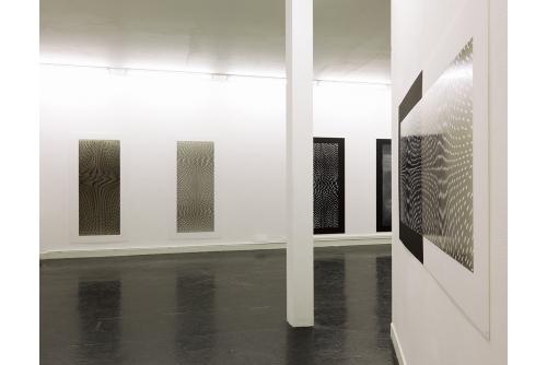Julie Trudel, Noir d'ivoire et blanc de titane – tableaux grand format, 2014 Galerie des Étables, Bordeaux, France