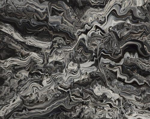 """Julie Trudel, Croisements T123F123M, 2013 acrylique sur panneau acrylic on panel 32"""" x 40"""""""