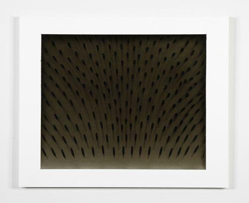 """Julie Trudel Déploiement BNN 2014 Gesso et acrylique sur MDF, marouflé sur contreplaqué  Gesso and acrylic on MDF mounted on plywood 60 x 74 cm (24"""" x 29"""")"""
