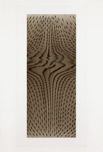 """Julie Trudel Polarisés BNN, 2014 Acrylique et gesso sur plexiglas Acrylic and gesso on plexiglas 205 x 101 cm (80 3/4"""" x 39 3/4"""")"""