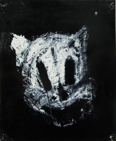 Joyce Pensato, Porky (from the Wanted series), 2003, peinture émail sur papier, enamel paint on paper, 17