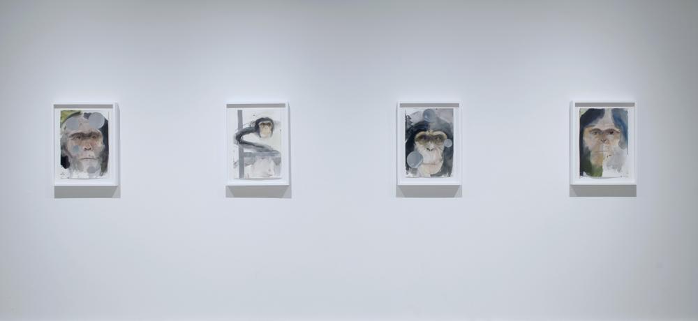 Trevor Gould, David Lafrance, Alain Paiement, Galerie Hugues Charbonneau, 2013 (photo : Éliane Excoffier)