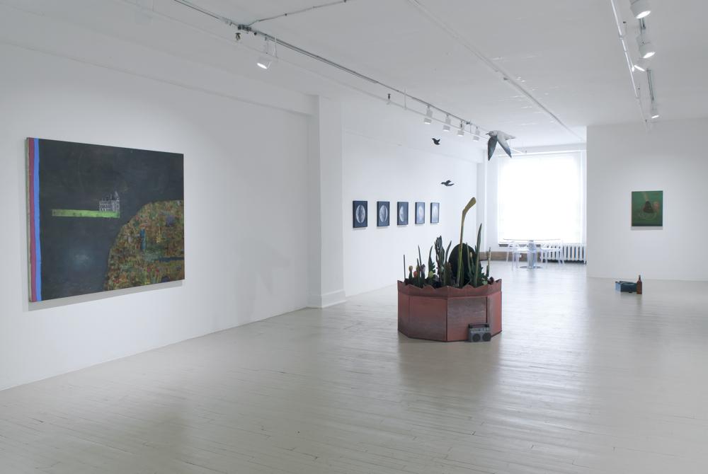 Installation : Trevor Gould, David Lafrance, Alain Paiement, Galerie Hugues Charbonneau, 2013 (photo : Éliane Excoffier)
