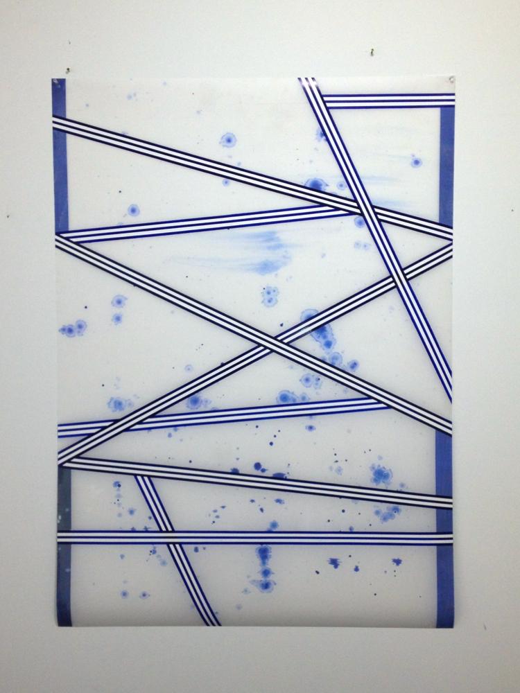Jean-Benoit Pouliot, Sans titre (scaccato) 2013, acrylique et crayon sur papier mylar, acrylic and pencil on mylar paper, 50