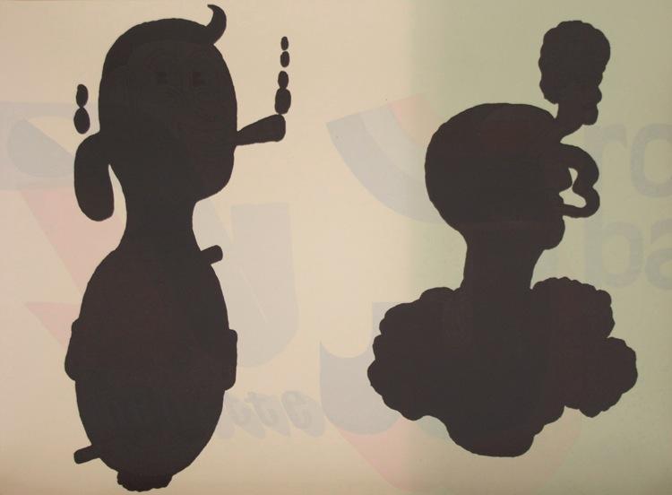 Séripop, Sans titre (Deux têtes noires), 2011-2012, sérigraphie sur papier, silkscreen on paper, éd 25, 18