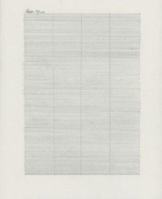 """Tammi Campbell, Dear Agnes (004), 2011, graphite sur papier japonais Kozo plié, graphite on folded Kozo Japanese paper, 11"""" x 8 ½"""""""