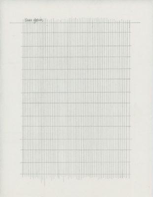 """Tammi Campbell, Dear Agnes (030), 2012, graphite sur papier japonais Kozo plié, graphite on folded Kozo Japanese paper, 11"""" x 8 ½"""""""