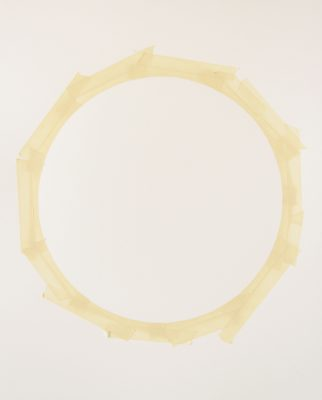 Tammi Campbell, from Circle Tape series (april 2012 A), 2012, acrylique sur carton musée, acrylic on museum board, 38