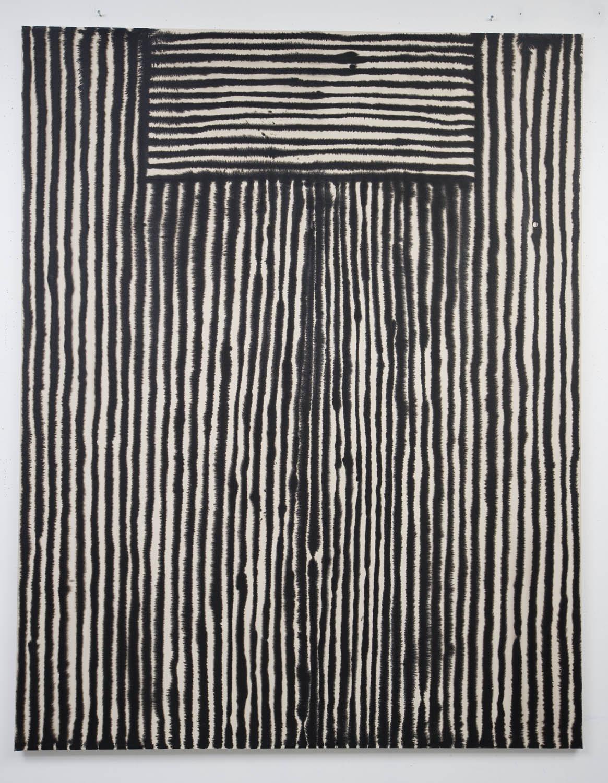 Marie-Claude Bouthilier, Mégalithe 02, 2013, carbone et acrylique sur toile, carbon and acrylic on canvas, 82.5