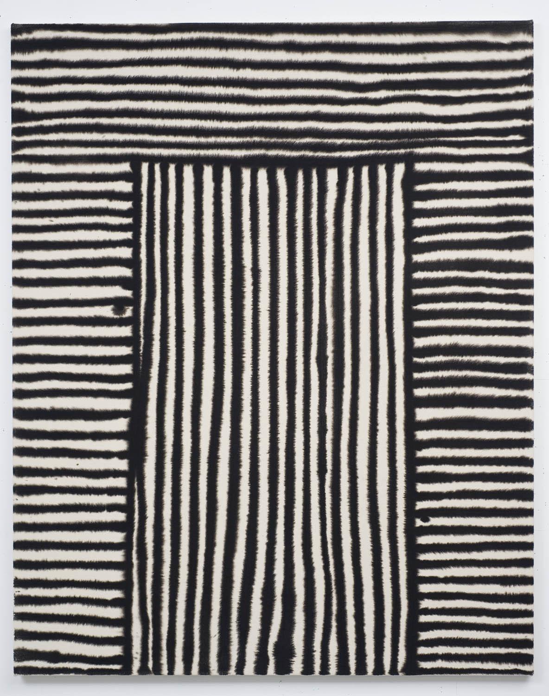 Marie-Claude Bouthilier, Mégalithe 05, 2013, carbone et acrylique sur toile, carbon and acrylic on canvas, 59