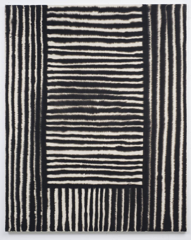 Marie-Claude Bouthilier, Mégalithe 06, 2013, carbone et acrylique sur toile, carbon and acrylic on canvas, 59