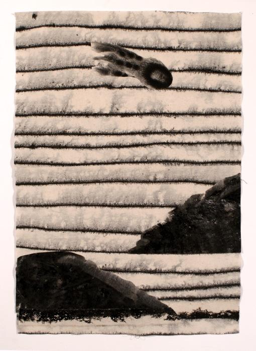 Marie-Claude Bouthillier, Astrolithe, 2013, carbone et acrylique sur toile, carbon and acrylique on canvas, 20 1/2