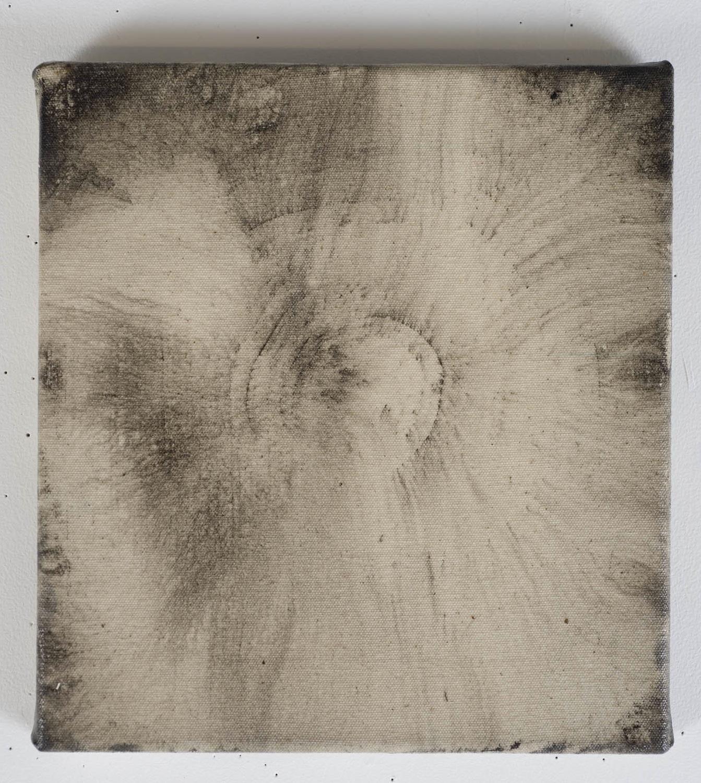 Marie-Claude Bouthillier, Mégalithe 33 (étoile), 2012, carbone et acrylique sur toile, carbon and acrylic on canvas, 12