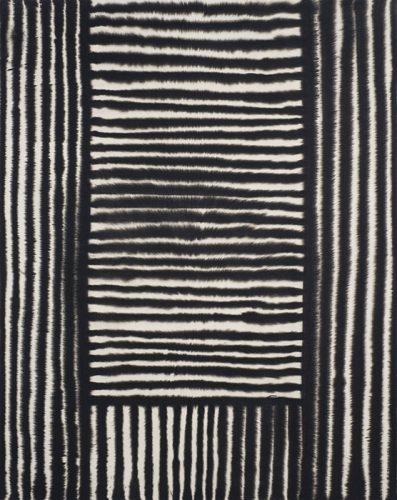 Marie-Claude Bouthilier, Mégalithe 06, 2013, carbone et acrylique sur toile, carbon and acrylic on canvas, 60