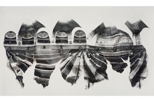 "Alain Paiement, Grand Amphithéâtre – According to Horizon, 1989 Gelatin silver photograph 30"" x 50"" x 4"""