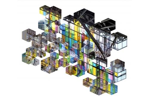 """Alain Paiement, Fractal Palace, 2001 Archival inkjet print Édition 3 122 x 137 cm (48"""" x 54"""")"""