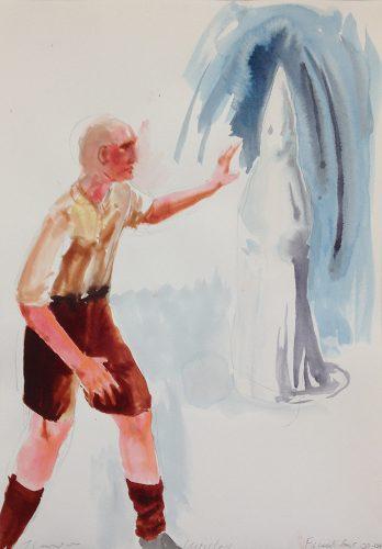 """Trevor Gould Untitled, Notes after Jean de La Hire series, 2004 aquarelle sur papier watercolour on paper 51 x 36 cm (20"""" x 14"""")"""
