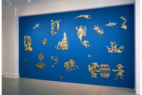 Karen Tam, Chinese Fever, 2014, installation, Écho 2 Galerie Hugues Charbonneau, Montréal