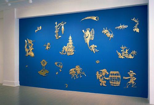 Karen Tam, Chinese Fever, 2014, installation, Écho 2, Galerie Hugues Charbonneau, Montréal