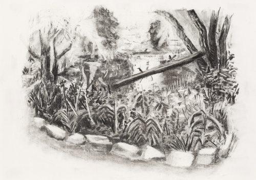 """David Lafrance St-Philippe 2014 Fusain sur papier Charcoal on paper 38 x 53 cm (15"""" x 21"""")  LAFR2014020"""