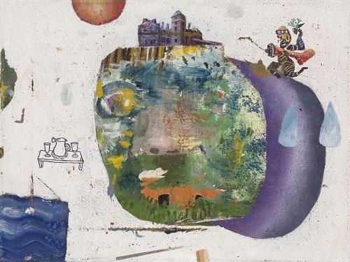 """David Lafrance Usine 08 2014 Huile sur toile Oil on canvas 31 x 41 cm (12"""" x 16"""")"""