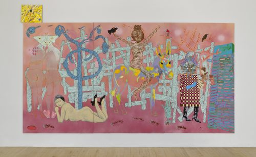 Cynthia Girard-Renard Victoire sur la barricade, 2012 Acrylique sur toile Acrylic on canvas 215 x 411cm (84 1/2