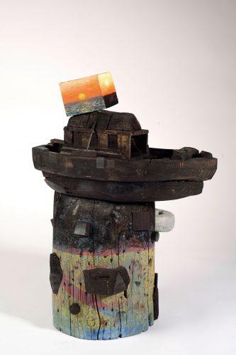 David Lafrance Meditéranée, 2015-2016 Bois et peinture acrylique Wood and acrylic paint  61 x 48 x 35,5 cm (24''x 19'' x 14'')