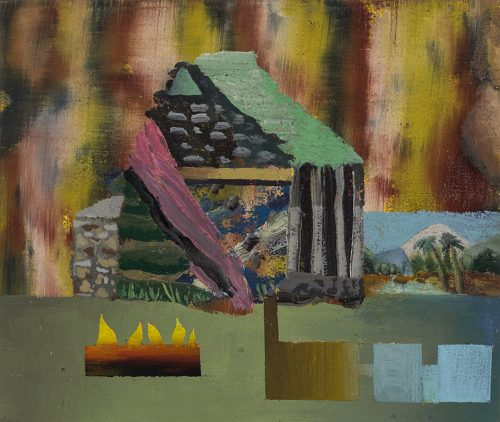 David Lafrance Earthship 07, 2015 Huile sur panneau Oil on panel 15 x 20 cm (6