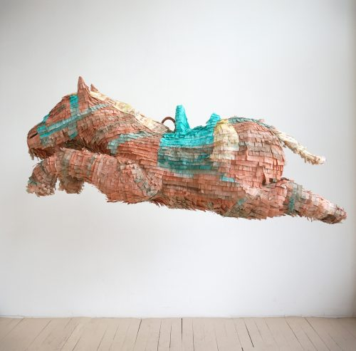 "Karen Tam Galloping Silk Road Blood-Sweating Horse No. 1, 2016 Techniques mixtes Mixed media 47.5 x 122 x 39.5 cm (18 3/4""x 48""x 15 1/2"")"